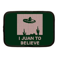 I Juan To Believe Ugly Holiday Christmas Green background Netbook Case (Medium)
