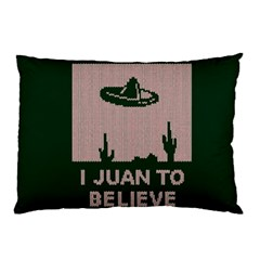 I Juan To Believe Ugly Holiday Christmas Green background Pillow Case