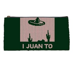 I Juan To Believe Ugly Holiday Christmas Green background Pencil Cases