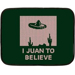 I Juan To Believe Ugly Holiday Christmas Green background Double Sided Fleece Blanket (Mini)
