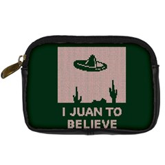 I Juan To Believe Ugly Holiday Christmas Green background Digital Camera Cases