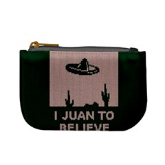 I Juan To Believe Ugly Holiday Christmas Green background Mini Coin Purses