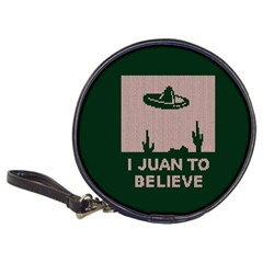 I Juan To Believe Ugly Holiday Christmas Green background Classic 20-CD Wallets
