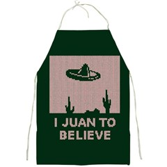 I Juan To Believe Ugly Holiday Christmas Green background Full Print Aprons