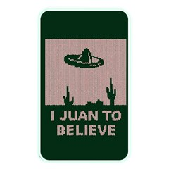 I Juan To Believe Ugly Holiday Christmas Green background Memory Card Reader