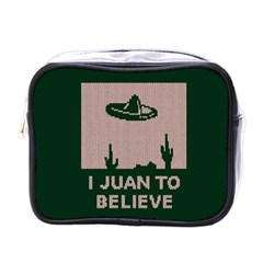 I Juan To Believe Ugly Holiday Christmas Green background Mini Toiletries Bags