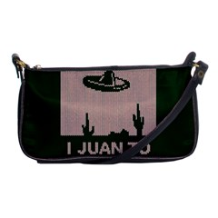 I Juan To Believe Ugly Holiday Christmas Green background Shoulder Clutch Bags