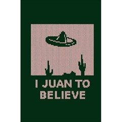 I Juan To Believe Ugly Holiday Christmas Green background 5.5  x 8.5  Notebooks