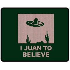 I Juan To Believe Ugly Holiday Christmas Green background Fleece Blanket (Medium)