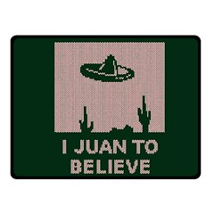 I Juan To Believe Ugly Holiday Christmas Green background Fleece Blanket (Small)