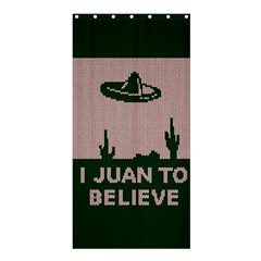 I Juan To Believe Ugly Holiday Christmas Green background Shower Curtain 36  x 72  (Stall)