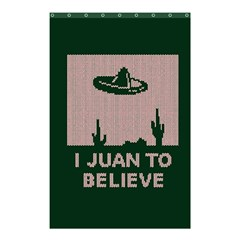 I Juan To Believe Ugly Holiday Christmas Green background Shower Curtain 48  x 72  (Small)