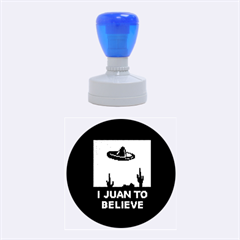 I Juan To Believe Ugly Holiday Christmas Green background Rubber Round Stamps (Medium)