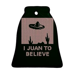 I Juan To Believe Ugly Holiday Christmas Green background Ornament (Bell)