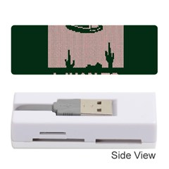 I Juan To Believe Ugly Holiday Christmas Green background Memory Card Reader (Stick)
