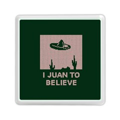 I Juan To Believe Ugly Holiday Christmas Green background Memory Card Reader (Square)