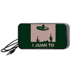 I Juan To Believe Ugly Holiday Christmas Green background Portable Speaker (Black)
