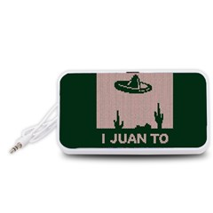 I Juan To Believe Ugly Holiday Christmas Green background Portable Speaker (White)