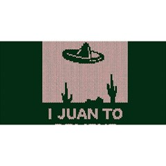I Juan To Believe Ugly Holiday Christmas Green background YOU ARE INVITED 3D Greeting Card (8x4)