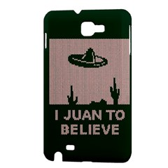 I Juan To Believe Ugly Holiday Christmas Green background Samsung Galaxy Note 1 Hardshell Case