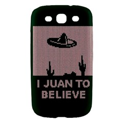 I Juan To Believe Ugly Holiday Christmas Green background Samsung Galaxy S III Hardshell Case