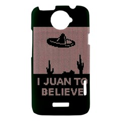 I Juan To Believe Ugly Holiday Christmas Green background HTC One X Hardshell Case