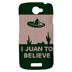I Juan To Believe Ugly Holiday Christmas Green background HTC One S Hardshell Case