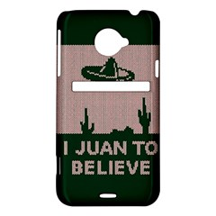 I Juan To Believe Ugly Holiday Christmas Green background HTC Evo 4G LTE Hardshell Case
