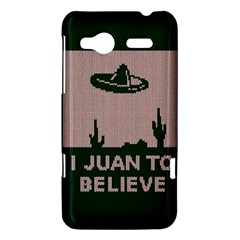 I Juan To Believe Ugly Holiday Christmas Green background HTC Radar Hardshell Case