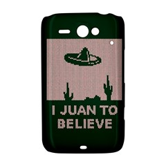 I Juan To Believe Ugly Holiday Christmas Green background HTC ChaCha / HTC Status Hardshell Case