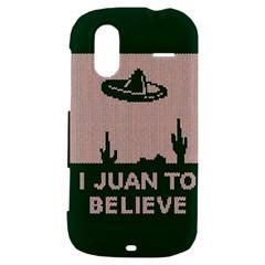 I Juan To Believe Ugly Holiday Christmas Green background HTC Amaze 4G Hardshell Case