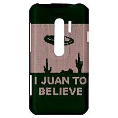 I Juan To Believe Ugly Holiday Christmas Green background HTC Evo 3D Hardshell Case