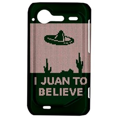 I Juan To Believe Ugly Holiday Christmas Green background HTC Incredible S Hardshell Case