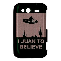 I Juan To Believe Ugly Holiday Christmas Green background HTC Wildfire S A510e Hardshell Case