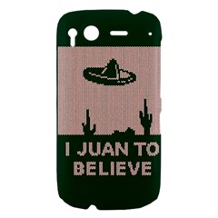 I Juan To Believe Ugly Holiday Christmas Green background HTC Desire S Hardshell Case