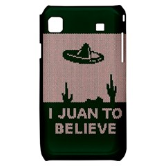 I Juan To Believe Ugly Holiday Christmas Green background Samsung Galaxy S i9000 Hardshell Case