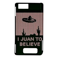 I Juan To Believe Ugly Holiday Christmas Green background Motorola DROID X2