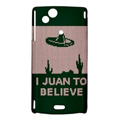 I Juan To Believe Ugly Holiday Christmas Green background Sony Xperia Arc