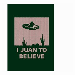 I Juan To Believe Ugly Holiday Christmas Green Background Small Garden Flag (two Sides)