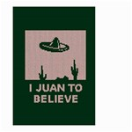 I Juan To Believe Ugly Holiday Christmas Green background Small Garden Flag (Two Sides) Back
