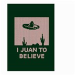 I Juan To Believe Ugly Holiday Christmas Green background Large Garden Flag (Two Sides) Back