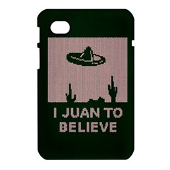 I Juan To Believe Ugly Holiday Christmas Green background Samsung Galaxy Tab 7  P1000 Hardshell Case