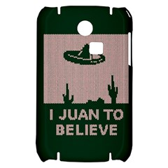I Juan To Believe Ugly Holiday Christmas Green background Samsung S3350 Hardshell Case