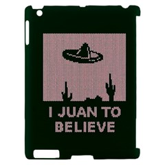 I Juan To Believe Ugly Holiday Christmas Green background Apple iPad 2 Hardshell Case (Compatible with Smart Cover)