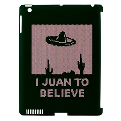 I Juan To Believe Ugly Holiday Christmas Green background Apple iPad 3/4 Hardshell Case (Compatible with Smart Cover)