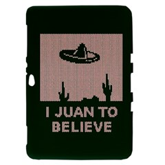 I Juan To Believe Ugly Holiday Christmas Green background Samsung Galaxy Tab 8.9  P7300 Hardshell Case