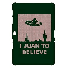 I Juan To Believe Ugly Holiday Christmas Green background Samsung Galaxy Tab 10.1  P7500 Hardshell Case