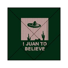 I Juan To Believe Ugly Holiday Christmas Green background Acrylic Tangram Puzzle (6  x 6 )