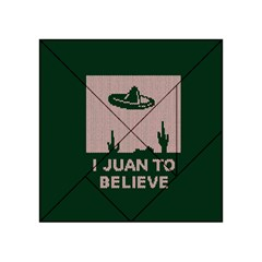 I Juan To Believe Ugly Holiday Christmas Green background Acrylic Tangram Puzzle (4  x 4 )