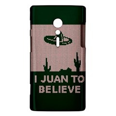 I Juan To Believe Ugly Holiday Christmas Green background Sony Xperia ion